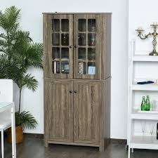 kitchen pantry wood storage cabinets shop for homcom contemporary kitchen pantry