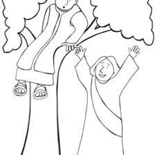 Coloring Page Zacchaeus Jesus Archives Mente Beta Most Complete Zacchaeus Coloring Page