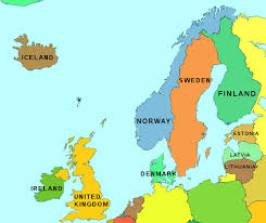 map of n europe map of european countries major tourist