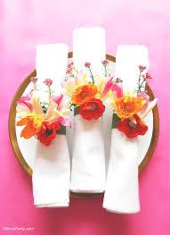diy floral napkin rings ideas printables
