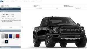 ford raptor prices 2017 ford raptor f 150 svt build and price
