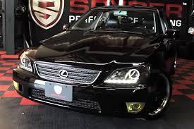 2003 lexus is300 headlights spyder pro yd lis01 hid drl bk black halo projector led