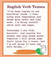 12 lists for irregular verbs in the past tense