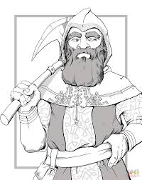 dungeons and dragons dwarf coloring page free printable coloring