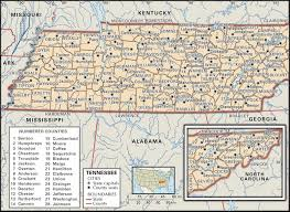 Maryville Tennessee Map by Historical Facts Of The State Of Tennessee Counties Guide