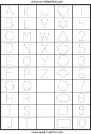 letters numbers and shapes tracing worksheets free printable