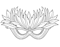 Free Printable Halloween Masks by Mardi Gras Mask Coloring Pages Getcoloringpages Com