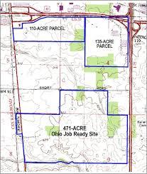 Csx Railroad Map Topography Csx Railroad Parcel Acres Job Ready Site Wapakoneta