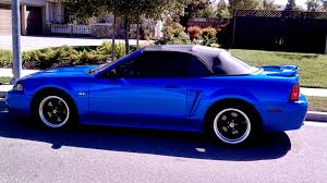 2000 blue mustang 2000 ford mustang convertible