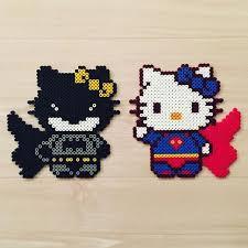 batman superman kitty perler beads original design
