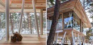 beautiful cedar home stands high on stilts to accommodate heavy