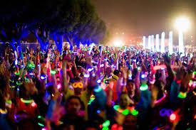 fantasy of lights 5k the inaugural electric run a trippy nighttime 5k run walk set to