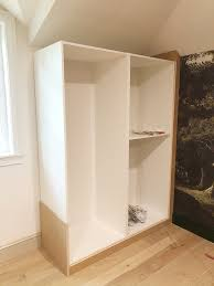 how to install cabinets with uneven ceiling our custom ikea cabinet built ins