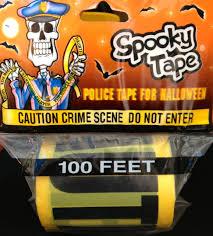 halloween tape crime scene tape go party