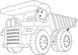 dump truck coloring pages handy manny coloringstar