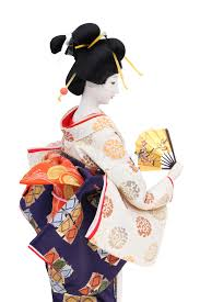 traditional japanese geisha doll stock photo image of hairdo