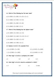 grade 3 maths worksheets 5 digit numbers 2 2 expanded form of 4