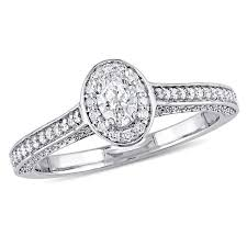 oval engagement ring with halo 14k white gold 724ctw oval halo engagement ring 8487237