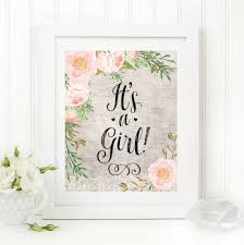 it u0027s a printable 8x10 baby shower table sign rustic floral