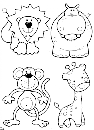 surprising printable jungle animal coloring pages animals