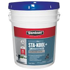 Henry Rubberized Wet Patch by Gardner 5 Gal Sta Kool Pro White Roof Coating Sk 7805 The Home