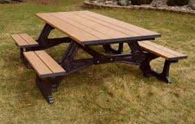 recycled plastic picnic tables 8 ft recycled plastic picnic table wheelchair accessible