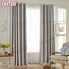 stores pour chambres à coucher solide couleurs blackout rideaux pour la chambre à coucher gris
