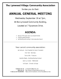 annual agenda association annual meeting agenda villages of