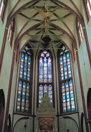 file stained glass window church of our lady koblenz germany