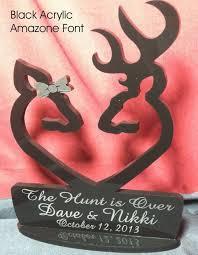 buck and doe cake topper deer buck doe heart facing each other wedding cake topper