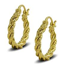 gold hoop earrings uk blue diamond club gold twisted rope hoop earrings 9ct gold
