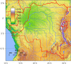 Africa Topographic Map by Map Of Democratic Republic Congo Topographic Map Worldofmaps