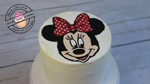Minnie Mouse Torte I Buttercreme Transfer Methode I Motivtorte I