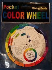 pocket color wheel 8cm diameter high quality artist paint mixing