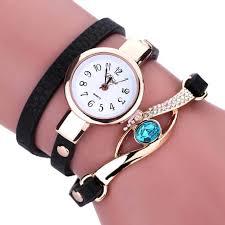 quartz bracelet wrist watches images 2018 fashion quartz bracelet leather strap wrist watch chikaboma jpg