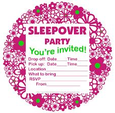 Invitation Cards Free Printable Girls Free Printable Sleepover Party Invitations Hundreds Of Slumber