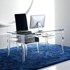 glass top office desk clear office desk acrylic home clear office desk another glass and