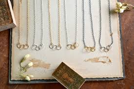 metal circle necklace images Trio necklace handmade triple circle necklace in gold silver jpg