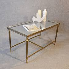 brass and glass end tables antiques atlas coffee table art deco brass glass top