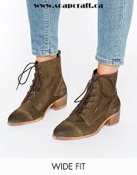 womens wide ankle boots canada khaki shoes asos wide fit suede lace up boots