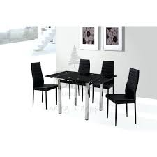 Black Extending Dining Table And Chairs Black Glass Dining Table Sets Sarasota Me
