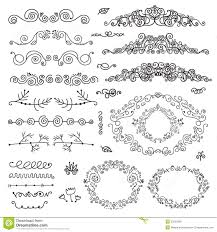 vector floral decor set of hand drawn vintage stock vector image