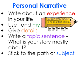 personal experience narrative essay topics