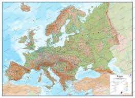 France Physical Map by Physical Europe Map Europe Europe Wall Maps