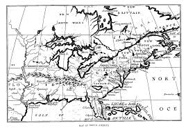 New France Map by Fiske New France And New England Map 3 North America
