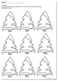 christmas tree number match 1 9 nuttin u0027 but preschool