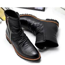 s dress boots size 11 us size 6 11 black leather zip pointy toe formal dress mens