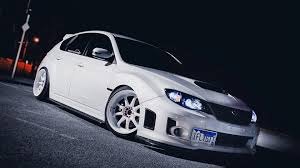 stanced subaru hd white subaru tuner car stance wallpapers hd desktop and