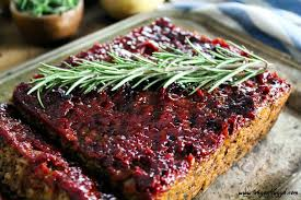 thanksgiving loaf mushroom walnut meatless loaf w ketchup glaze vegan meatloaf gf