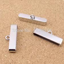bracelet clasps diy images Hole size 4 35mm10pcs lot rhodium leather end caps for diy jewelry jpg